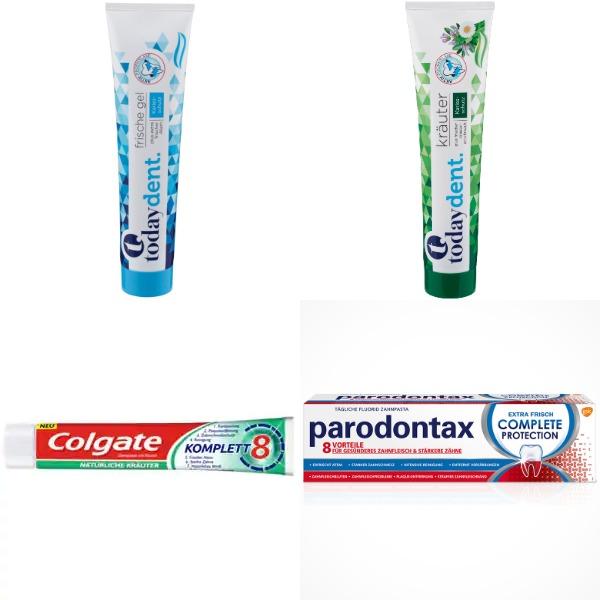 (sehr) gut im Test von Stiftung Warentest und Öko-Test: Zahnpasta mit niedrigem Abrieb