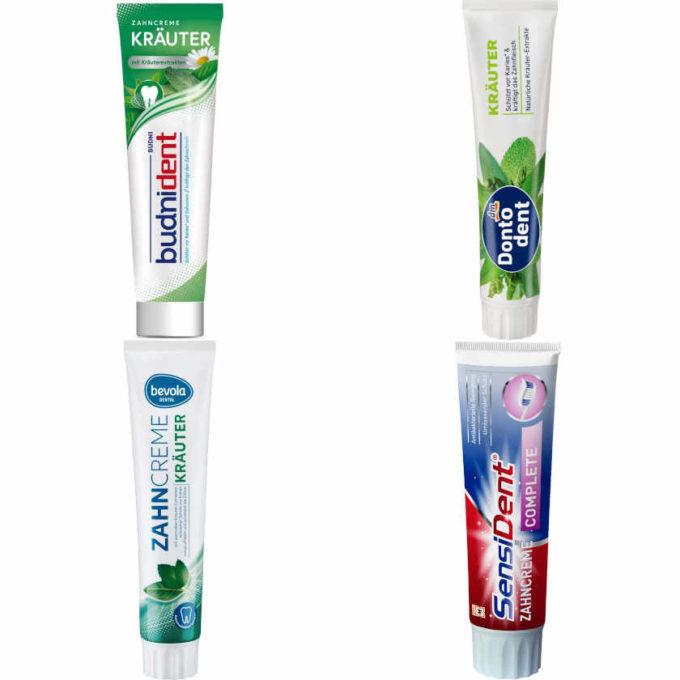 Testsieger & sehr gut im Test von Stiftung Warentest: Zahnpasta mit mittlerem Abrieb