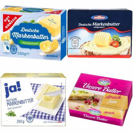Gut im Test: Butter mildgesäuert