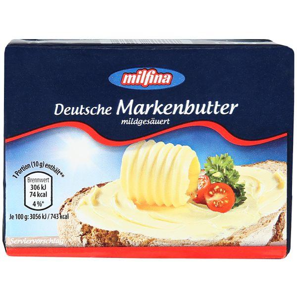 gut im Test von Stiftung Warentest 4/2018: Milfina Deutsche Markenbutter mildgesäuert (Aldi Süd)