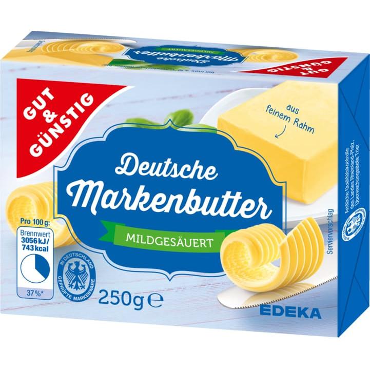 Testsieger und gut im Test von Stiftung Warentest 4/2018: Gut&Günstig Deutsche Markenbutter mildgesäuert (Edeka)
