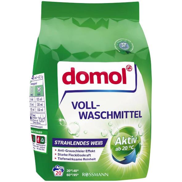 gut im Test von Stiftung Warentest 10/2018: Domol Vollwaschmittel (Rossmann)
