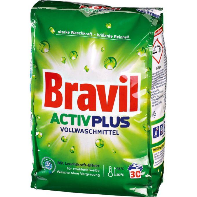 Testsieger & gut im Test von Stiftung Warentest 10/2018: Bravil Activ Plus Vollwaschmittel (Netto Marken-Discount)