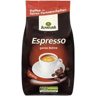 sehr gut im Test von Öko-Test 9/2016: Alnatura Bio Espresso, ganze Bohne, kräftig (Bio)