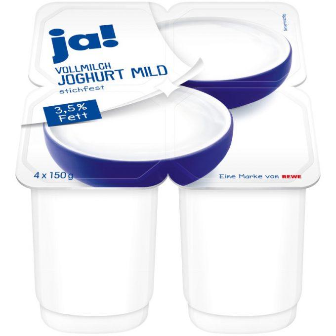 """""""gut"""" im Test von Stiftung Warentest 1/2018: ja! Vollmilch Joghurt mild (REWE)"""