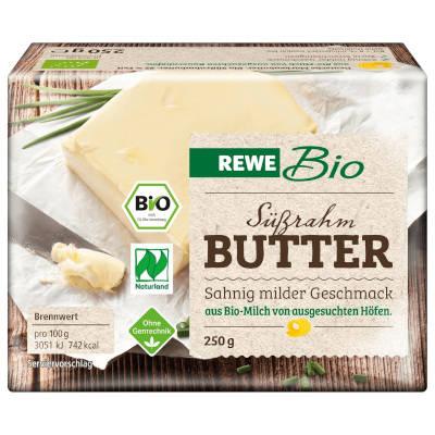"""Testsieger und """"gut"""" im Test von Stiftung Warentest 4/2018: REWE Bio Deutsche Markenbutter"""