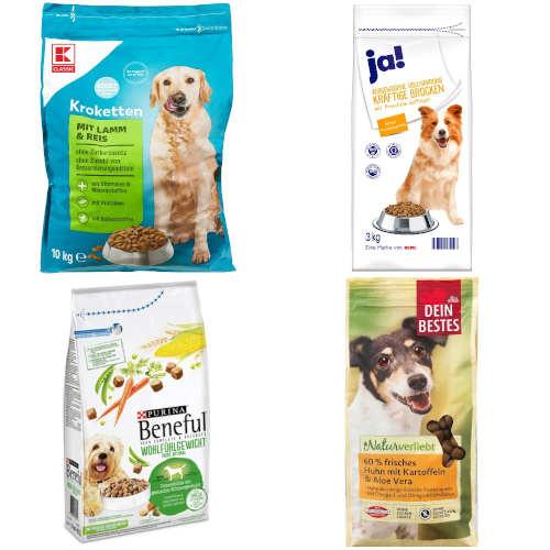 (sehr) gut in Tests von Stiftung Warentest und saldo: Hunde-Trockenfutter