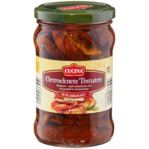 gut im Test von Stiftung Warentest 06/2017: Cucina Getrocknete Tomaten (Aldi Süd)