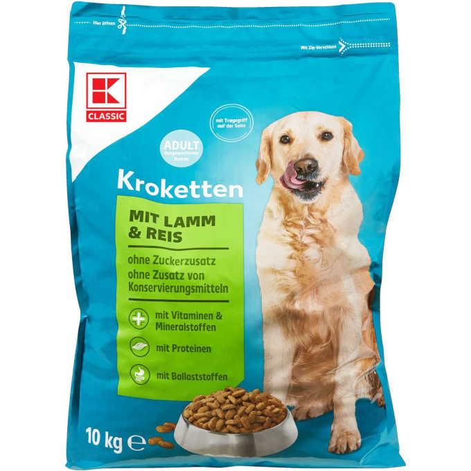 Testsieger und sehr gut im Test von Stiftung Warentest 06/2021: K-CLASSIC Hundenahrung Kroketten Lamm & Reis (Kaufland)