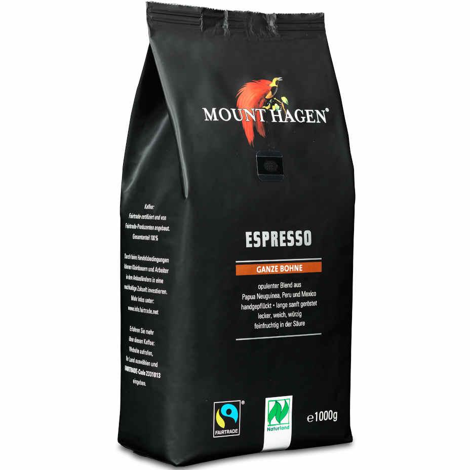 sehr gut im Test von Öko-Test 10/2019: Mount Hagen Espresso ganze Bohne