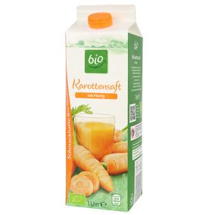 gut im Test von Öko-Test 2/2018: Bio Karottensaft mit Honig (Aldi Süd) (Bio)