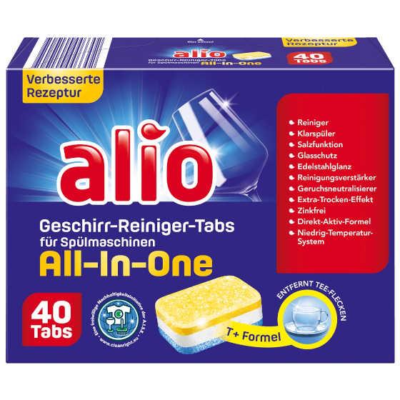 gut im Test von Stiftung Warentest 10/2020: Alio Geschirr-Reiniger-Tabs All-in-one (Aldi Nord)