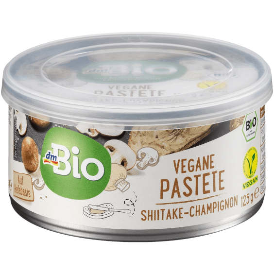 gut im Test von Stiftung Warentest 6/2020: dmBio Vegane Pastete Shiitake-Champignon (dm)