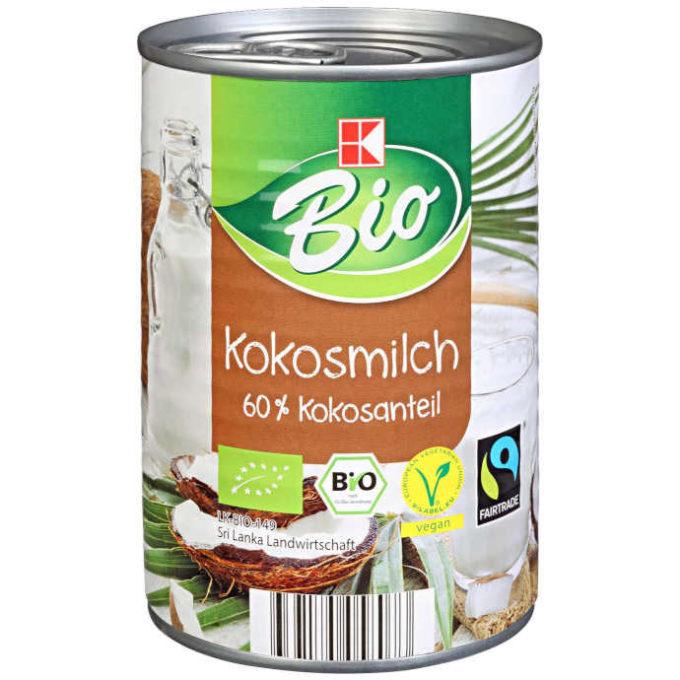 sehr gut im Test von Öko-Test 2/2020: K-Bio Kokosmilch (Kaufland) (Bio)