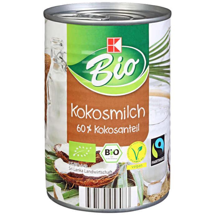 sehr gut im Test von Öko-Test 2/2020: K-Bio Kokosmilch (Kaufland)