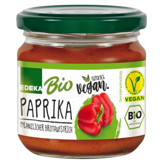 gut im Test von Stiftung Warentest 06/2020: Edeka Bio + Vegan Paprika Pflanzlicher Brotaufstrich