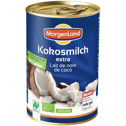 sehr gut im Test von Öko-Test 2/2020: Morgenland Kokosmilch extra