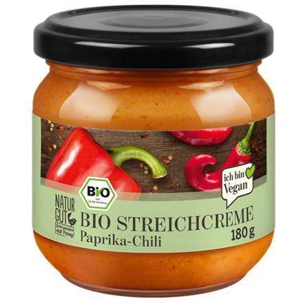 gut im Test von Stiftung Warentest 6/2020: Naturgut Bio Streichcreme Paprika-Chili (Penny)