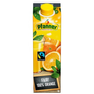 gut im Test von Öko-Test 4/2018: Pfanner 100 % Orange, Fairtrade