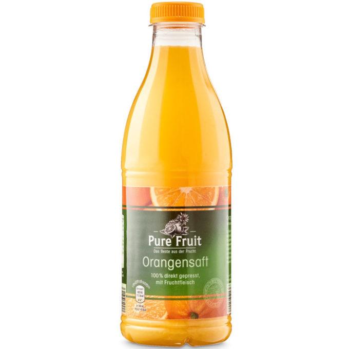 Testsieger und gut im Test von Stiftung Warentest 4/2014: Pure Fruit Orangensaft (Aldi Nord)
