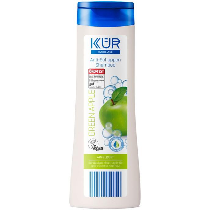gut im Test von Öko-Test 03/2021: Kür Haircare Shampoo Anti-Schuppen Green Apple (Aldi Süd)