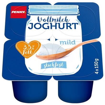 gut im Test von Stiftung Warentest 1/2018: Vollmilch Joghurt mild (Penny)