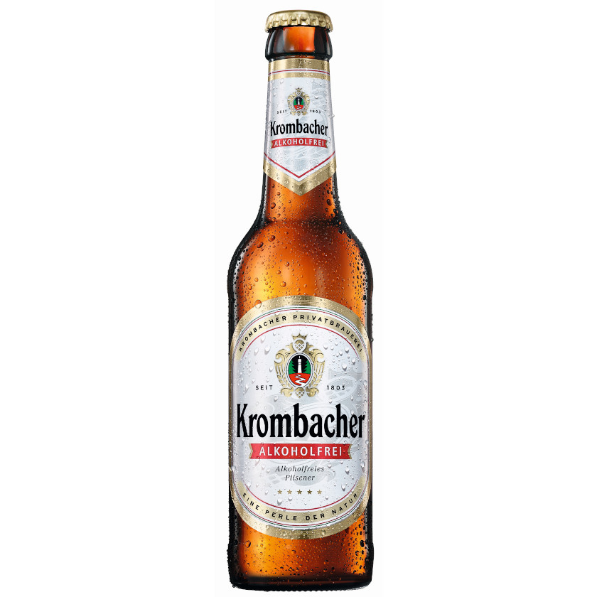 gut im Test von Stiftung Warentest 6/2018: Krombacher Alkoholfrei Alkoholfreies Pilsener