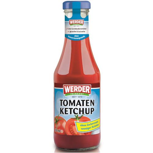 gut im Test von Stiftung Warentest 05/2019: Werder Feinkost Tomaten Ketchup ohne Zuckerzusatz weniger Kalorien