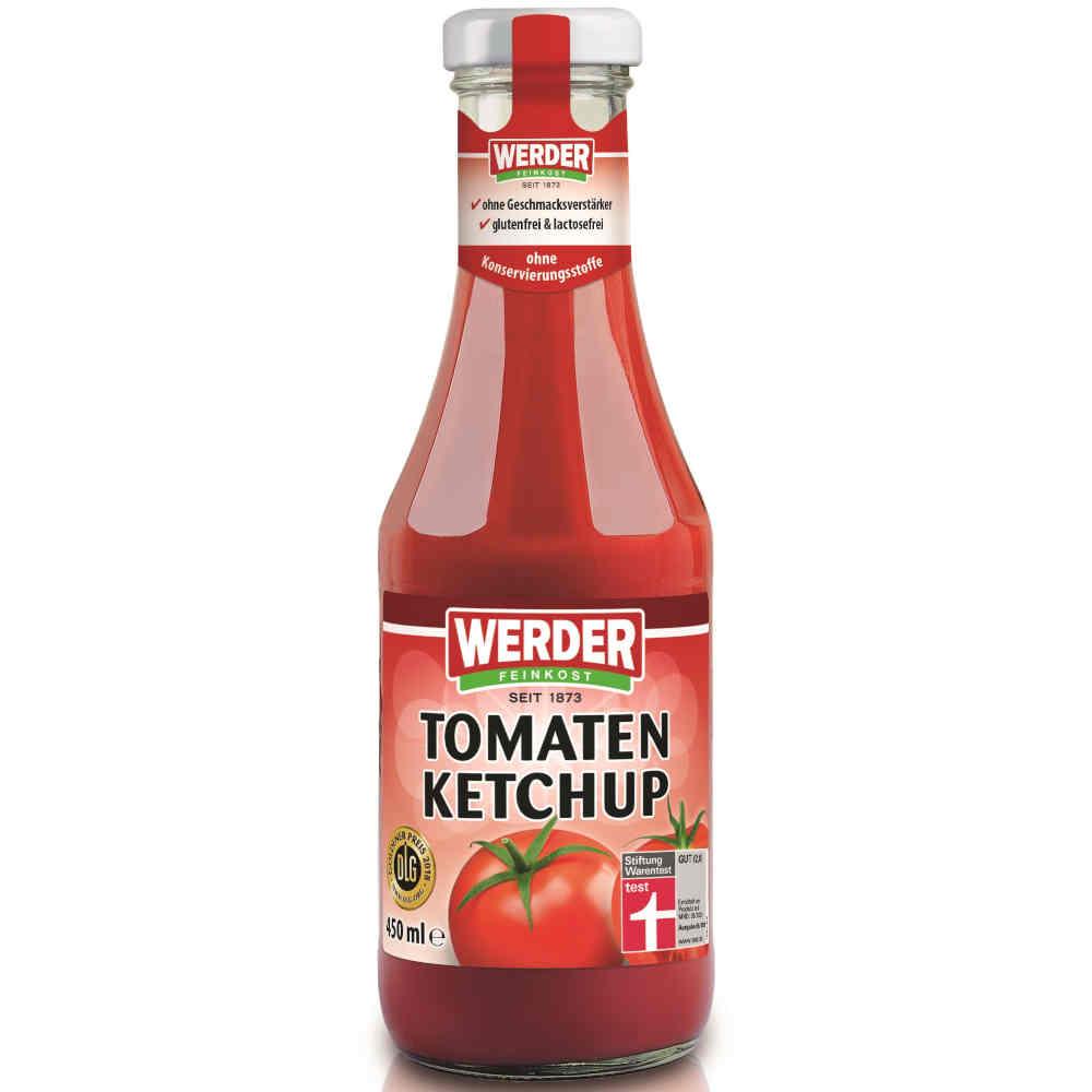(sehr) gut in Tests von Stiftung Warentest und Öko-Test: Werder Feinkost Tomaten Ketchup