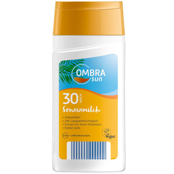 OMBRA sun Sonnenmilch LSF 30 250 ml (Aldi Süd)