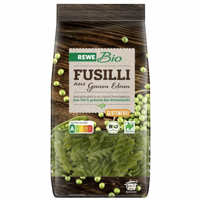 sehr gut im Test von Öko-Test 01/2019: Bio Fusilli Grüne Erbsen (REWE)