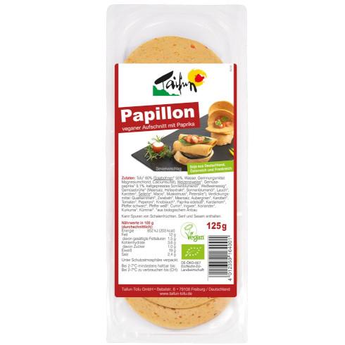 gut im Test von Stiftung Warentest 03/2019: Taifun Papillon veganer Aufschnitt mit Paprika