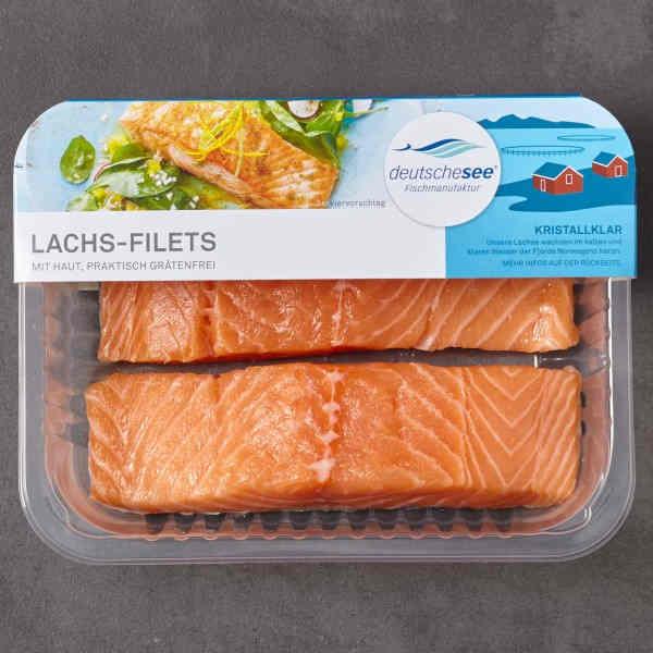 Testsieger und gut im Test von Stiftung Warentest 03/2018: Deutsche See Lachs-Filets mit Haut