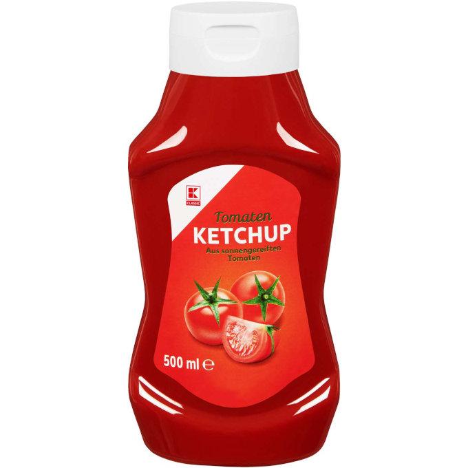 (sehr) gut in Tests von Stiftung Warentest und Öko-Test: K-Classic Tomatenketchup (Kaufland)