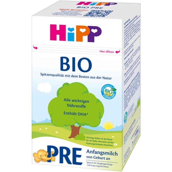 gut im Test von Öko-Test 5/2019 zum Vorgängerprodukt: HiPP Bio Pre Anfangsmilch (Bio)