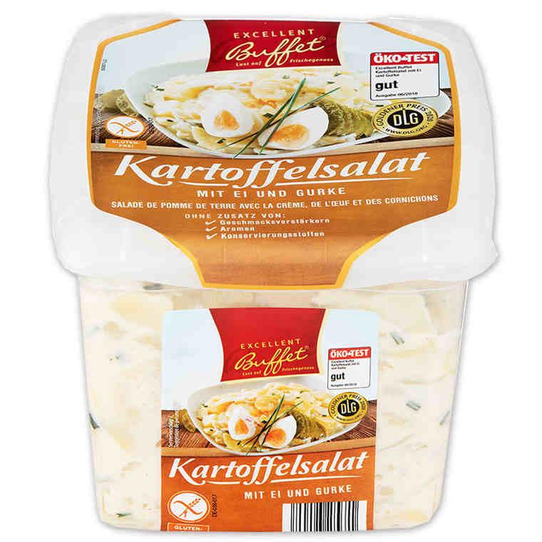 gut im Test von Öko-Test 06/2018: Excellent Buffet Kartoffelsalat mit Ei und Gurke (Norma)