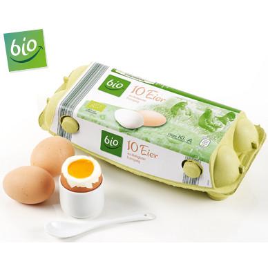bio 10 Eier aus ökologischer Erzeugung (Bio)