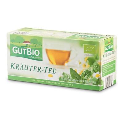 gut im Test von Öko-Test 10/2018: GutBio Kräuter-Tee (Aldi Nord)