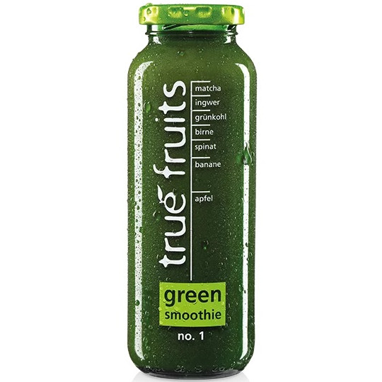 Testsieger und sehr gut im Test von Stiftung Warentest 3/2021: true fruits green smoothie no. 1