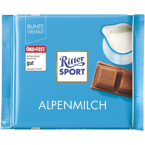 gut im Test von Öko-Test 12/2019: Ritter Sport Alpenmilch