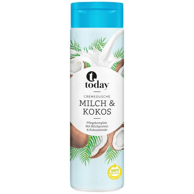 gut im Test von Öko-Test 7/2020: Today Cremedusche Milch & Kokos