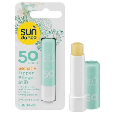 """Testsieger und """"sehr gut"""" im Test von Öko-Test 1/2019: Sun Dance Sensitive Lippenpflegestift (LSF 50) (dm)"""