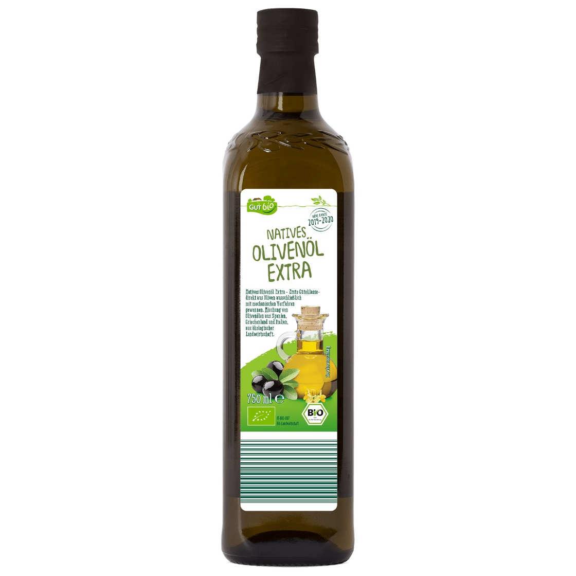 gut im Test von Stiftung Warentest 2/2020: GutBio Olivenöl nativ extra (Aldi Nord)