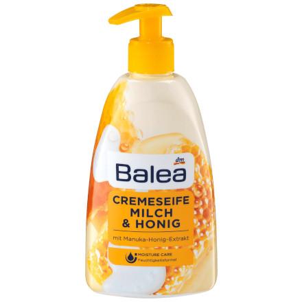 """""""gut"""" im Test von Markt 10/2014: Balea Cremeseife Milch & Honig (dm)"""