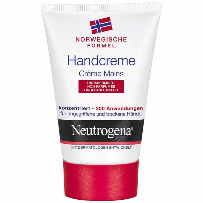 gut im Test von Stiftung Warentest 12/2018: Neutrogena Handcreme unparfümiert Norwegische Formel