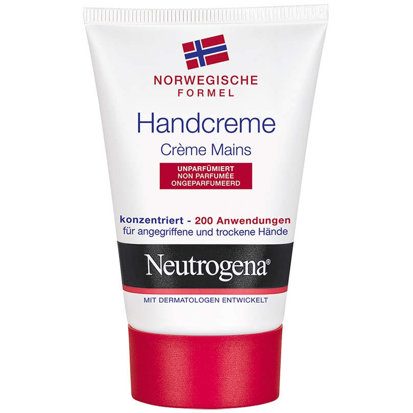gut im Test von Stiftung Warentest 8/2018: Neutrogena Handcreme unparfümiert Norwegische Formel