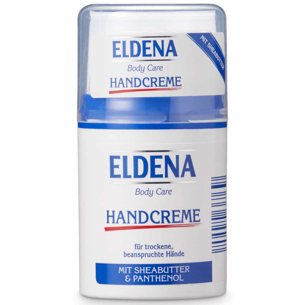 gut im Test von Stiftung Warentest 8/2018: Eldena Body Care Handcreme mit Sheabutter & Panthenol (Aldi Nord)