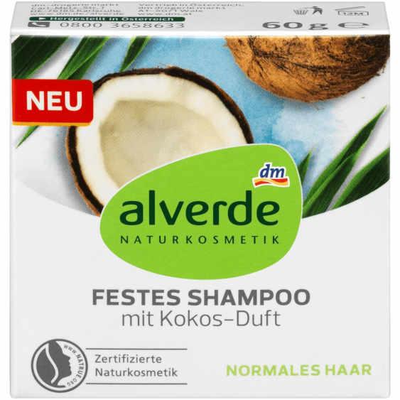 Platz 2 im Test der FAZ: alverde Festes Shampoo mit Kokos-Duft (dm)