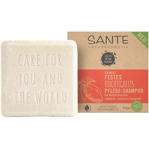 sehr gut im Test von Öko-Test 09/2020: Sante Festes Feuchtigkeitspflege-Shampoo Bio-Mango Aloe-Vera