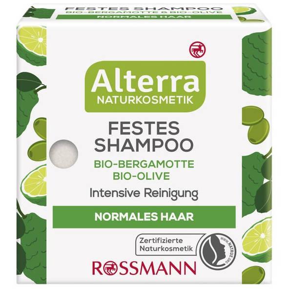 sehr gut im Test von Öko-Test 09/2020: Alterra Festes Shampoo Bio-Bergamotte Bio-Olive (Rossmann)